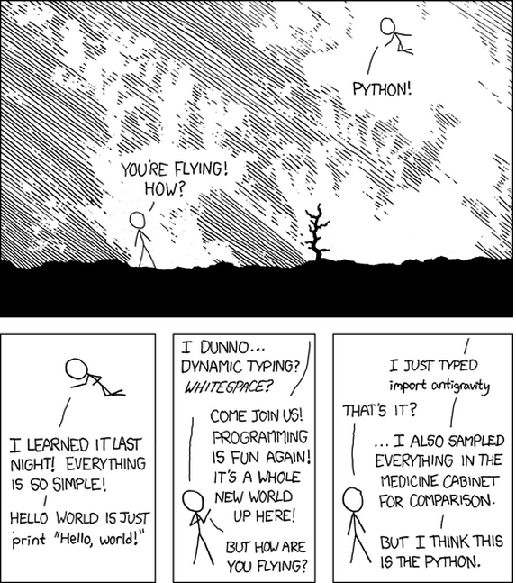 Python by xkcd, CC BY NC 2.5